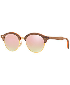 Ray-Ban CLUBROUND WOOD Sunglasses, RB4246M 51