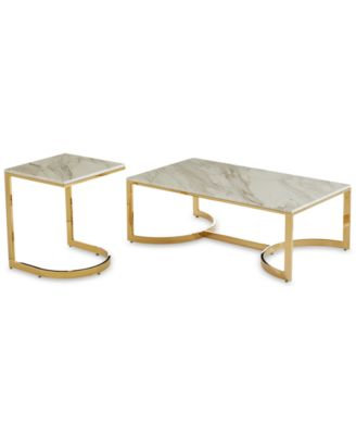 Allura 2-Pc. Table Furniture Set (Coffee Table & End Table)
