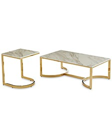 Allura 2-Pc. Table Set (Coffee Table & End Table)