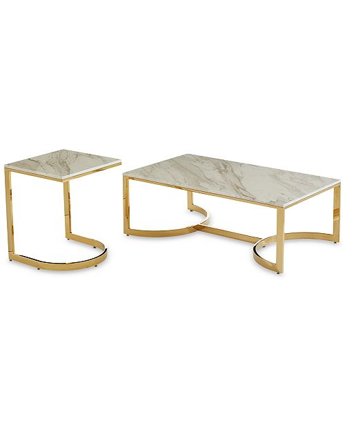 Super Allura 2 Pc Table Furniture Set Coffee Table End Table Theyellowbook Wood Chair Design Ideas Theyellowbookinfo