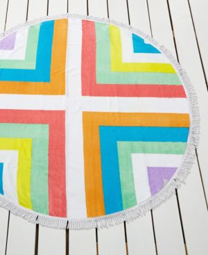 Bar Iii Chevron-Print Round Beach Towel, Only at Macy's Women's Swimsuit