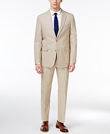 Tommy Hilfiger Modern-Fit Khaki Stretch Performance Suit Separates