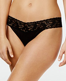Organic Cotton Original-Rise Lace-Waist Thong 891801