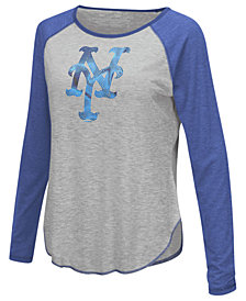Touch by Alyssa Milano Women's New York Mets Line Drive Long Sleeve T-Shirt