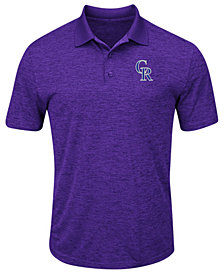 Majestic Men's Colorado Rockies First Hit Polo Shirt