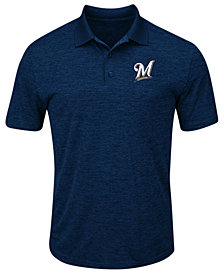Majestic Men's Milwaukee Brewers First Hit Polo Shirt