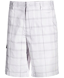 Attack Life by Greg Norman Men's Performance Stretch Plaid Golf Shorts, Created for Macy's
