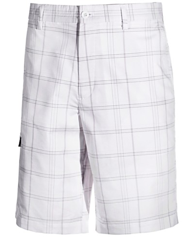Greg Norman for Tasso Elba Men's Performance Stretch Plaid Golf Shorts, Created for Macy's