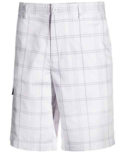 "Greg Norman Men's 11"" Plaid Golf Shorts, Created for Macy's"