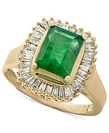 Gemma by EFFY® Emerald (1-3/8 ct. t.w.) and Diamond (1/2 ct. t.w.) Ring in 14k Yellow Gold