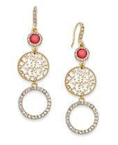 INC International Concepts Gold-Tone Triple Drop Earrings, Created for Macy's