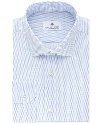 Ryan Seacrest Distinction™ Men's Slim-Fit Non-Iron Afternoon Sky Print Dress Shirt, Only at Macy's