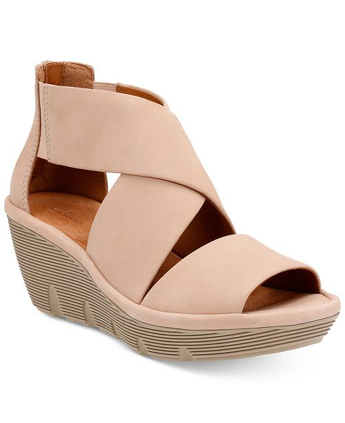 26462fd022 Clarks Women's Clarene Glamour Wedge Sandals & Reviews ...