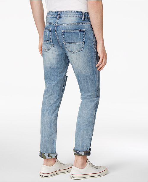 1e668dea ... American Rag Men's Camo Cuff Ripped Jeans, Created for Macy's ...