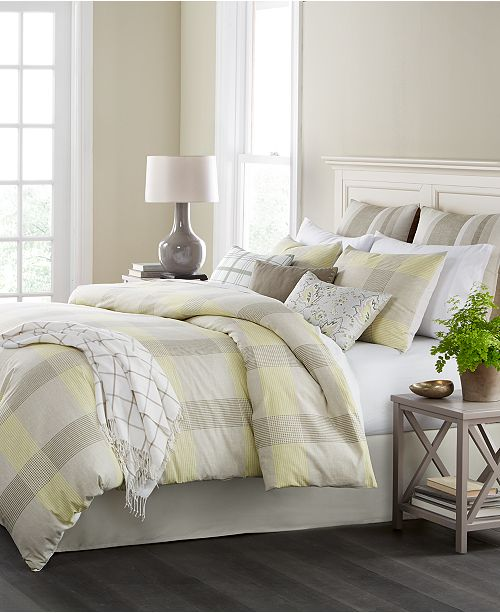 CLOSEOUT! Everett Plaid Reversible 10-Pc. King Comforter Set, Created for Macy's