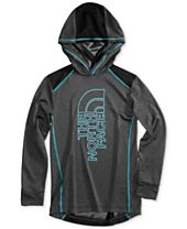 The North Face Reactor Hooded Long-Sleeve T-Shirt, Big Boys (8-20)