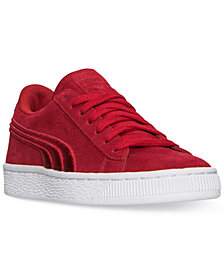 Puma Boys' Suede Classic Badge Casual Sneakers from Finish Line
