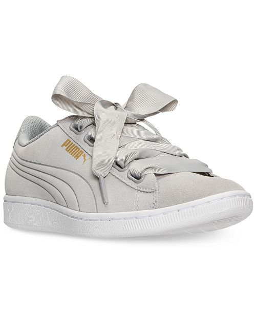Puma Women s Vikky Ribbon Casual Sneakers from Finish Line ... 0a3d34bf5