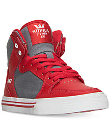 Supra Little Boys' Vaider Casual Skate High Top Sneakers from Finish Line