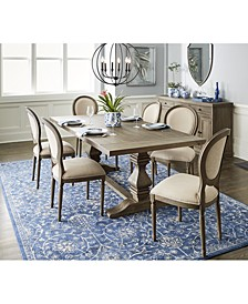 Tristan Trestle Dining 7-Pc. Set (Trestle Dining Table & 6 Side Chairs), Created for Macy's