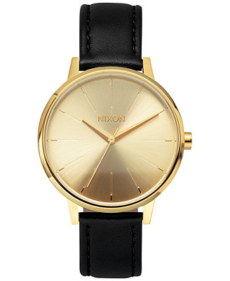 Women's Kensington Leather Strap Watch 37mm A108 by Nixon