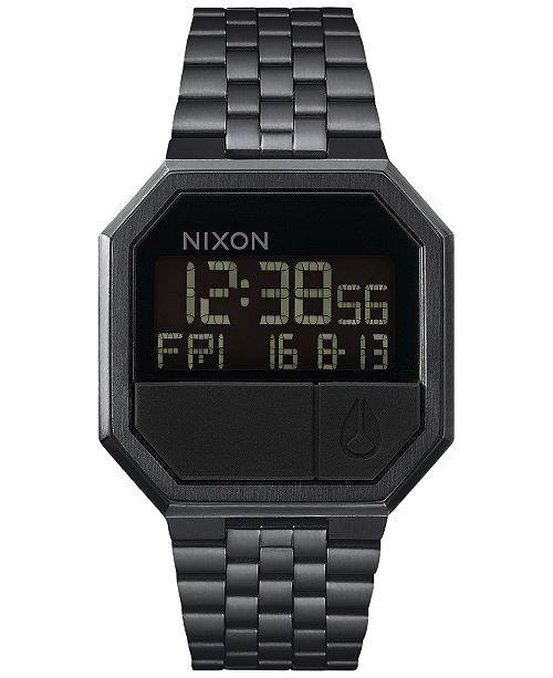 Nixon Men's Re-Run Digital Stainless Steel Bracelet Watch 39mm