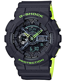 G-Shock Men's Analog-Digital Gray-Green Resin Strap Watch 51mm GA110LN-8A
