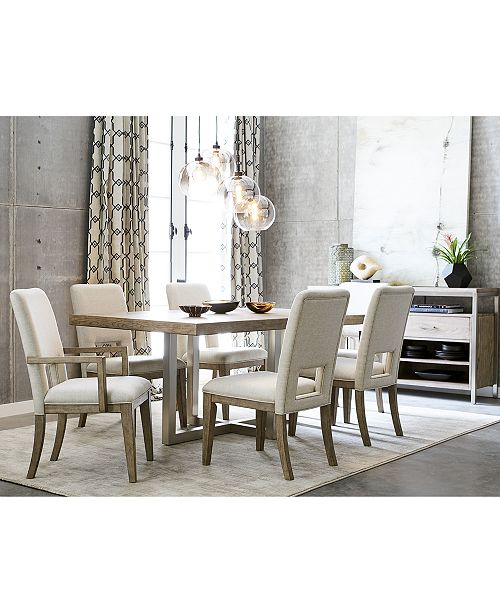 Furniture Altair Dining Furniture Set, 9-Pc. (Dining Table, 6 Side ...
