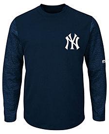 Majestic Men's New York Yankees AC On-Field Tech Fleece Pullover