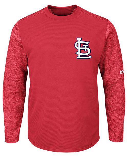75c52506 ... Majestic Men's St. Louis Cardinals AC On-Field Tech Fleece Pullover ...