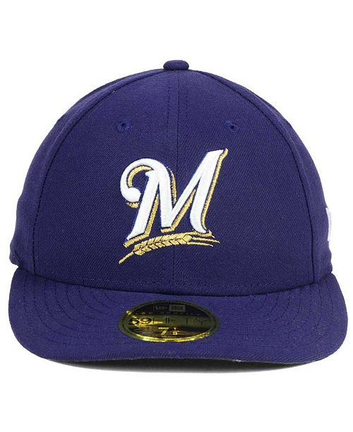 f383ce7704e New Era Milwaukee Brewers Low Profile AC Performance 59FIFTY Cap - Sports  Fan Shop By Lids - Men - Macy s