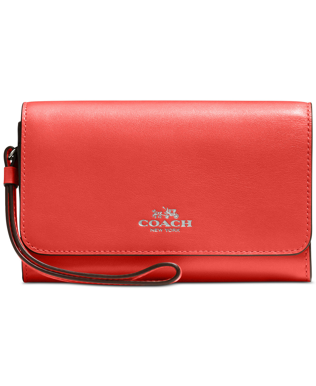COACH Boxed Phone Clutch in Refined Calf Leather (Multi Colors)