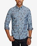 Nautica Men's Chambray Floral Long-Sleeve Shirt