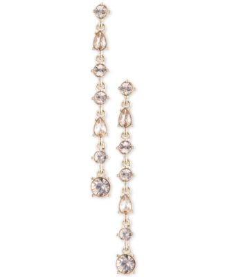 Image of Givenchy Multi-Crystal Linear Drop Earrings