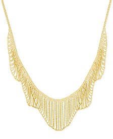 Multi-Beaded Statement Necklace in 14k Gold