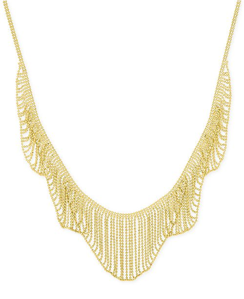Macy's Multi-Beaded Statement Necklace in 14k Gold