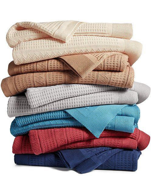 Lauren Ralph Lauren PRICE BREAK! Ultra Soft 100% Cotton Zig Zag Blankets