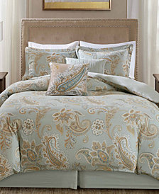 Harbor House Sienna 5PC Paisley Print King Duvet Set