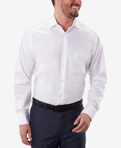 Geoffrey Beene Men's Classic-Fit Wrinkle Free Sateen Dress Shirt ...