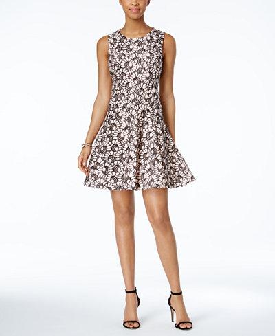 Tommy Hilfiger Lace Fit Amp Flare Dress Dresses Women