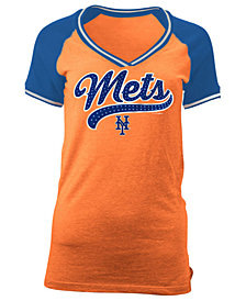 5th & Ocean Women's New York Mets Rhinestone Night T-Shirt
