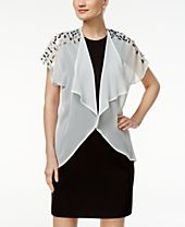 INC International Concepts Sequined-Shoulder Kimono, Created for Macy's