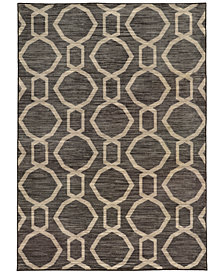 "CLOSEOUT! JHB Design  Brookside Aso Charcoal 5'3"" x 7'6"" Area Rug"