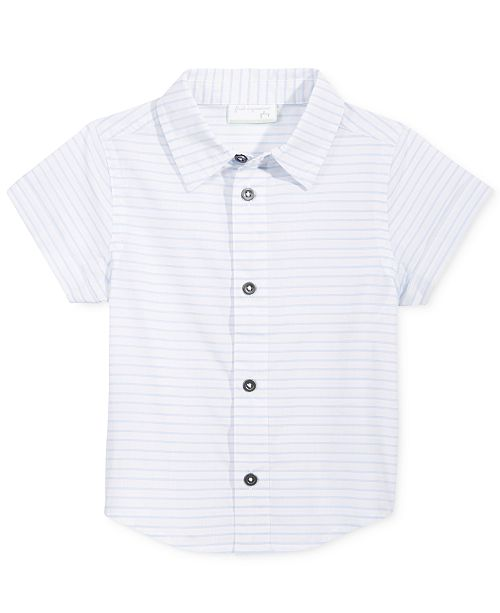 Striped Cotton Shirt, Baby Boys, Created for Macy's
