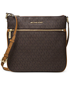 MICHAEL Michael Kors Signature Bedford Flat Small Crossbody