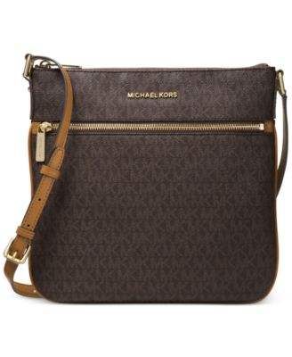 michael kors signature bedford flat small crossbody handbags rh macys com