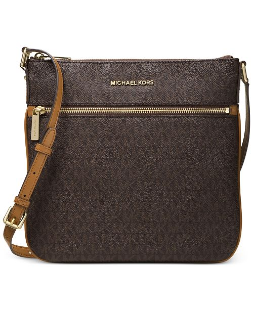 b67069774e79 Michael Kors Signature Bedford Flat Small Crossbody   Reviews ...