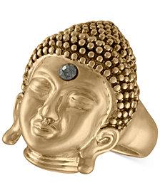 RACHEL Rachel Roy Gold-Tone Pavé Buddha Ring