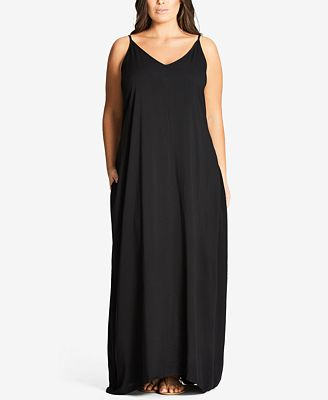 City Chic Trendy Plus Size V-Neck Maxi Dress - Dresses - Plus ...
