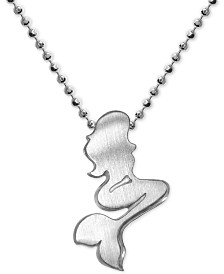 Alex Woo Mermaid Pendant Necklace in Sterling Silver